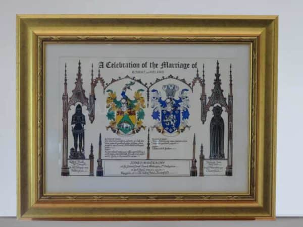 Celebration of Marriage (Gold Frame)