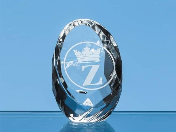 6cm Sliced Crystal paperweight